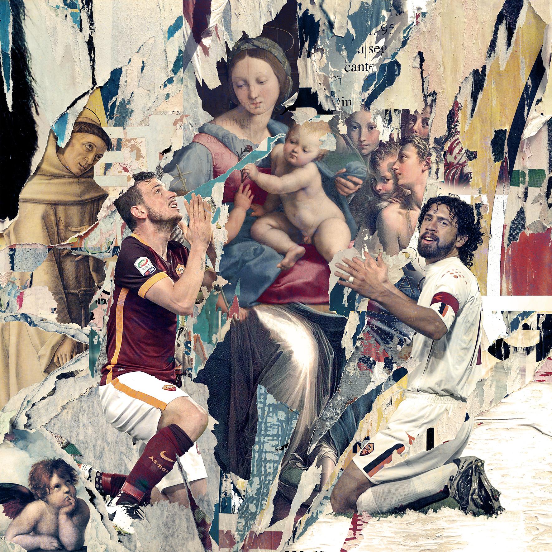 Fede Giallorossa (2017) – digital ricollage