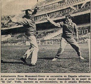Enzo Musumeci Greco e Charlton Heston