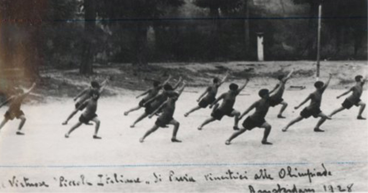 Le ginnaste di Pavia. Amsterdam 1928