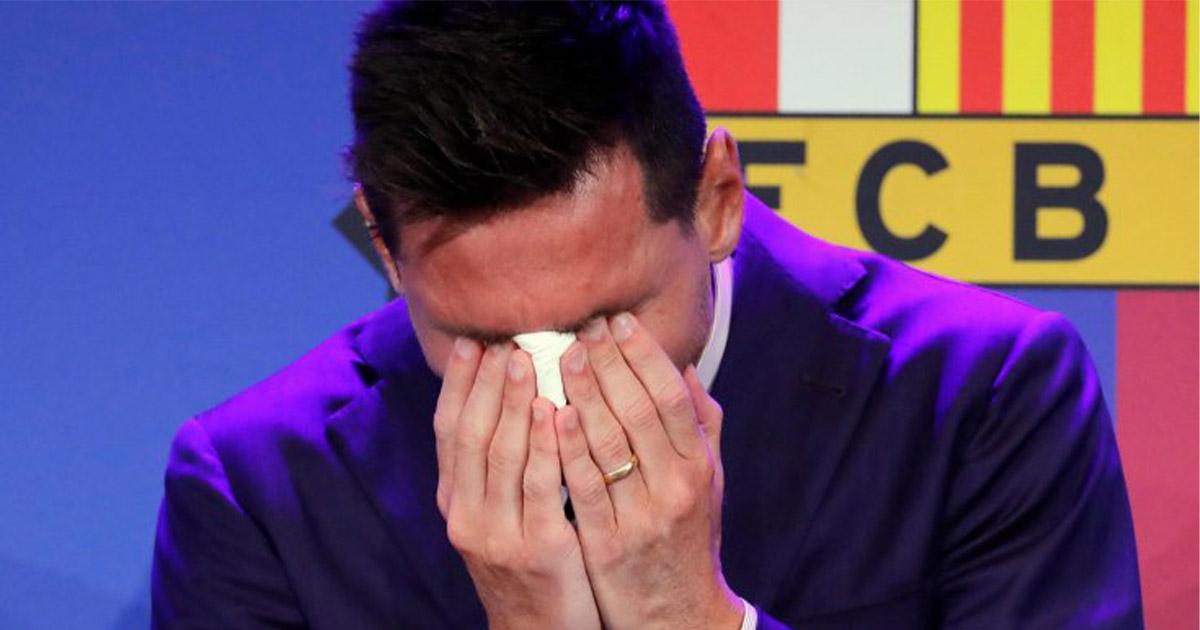 Leo Messi. 800 milioni in lacrime.